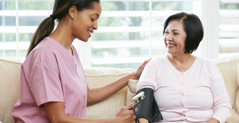 check a patients blood pressure